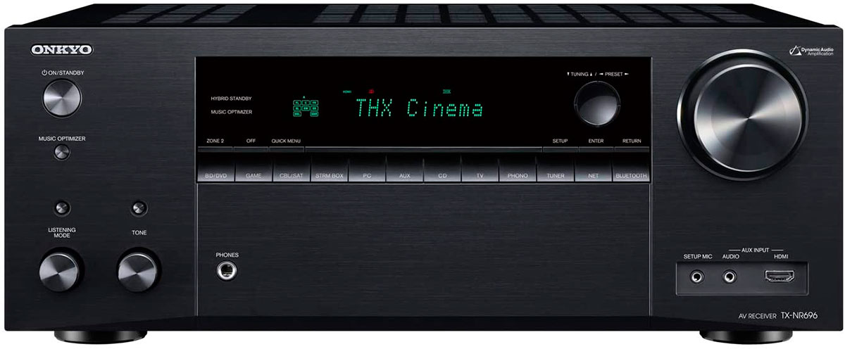 Onkyo TX-NR696 front view