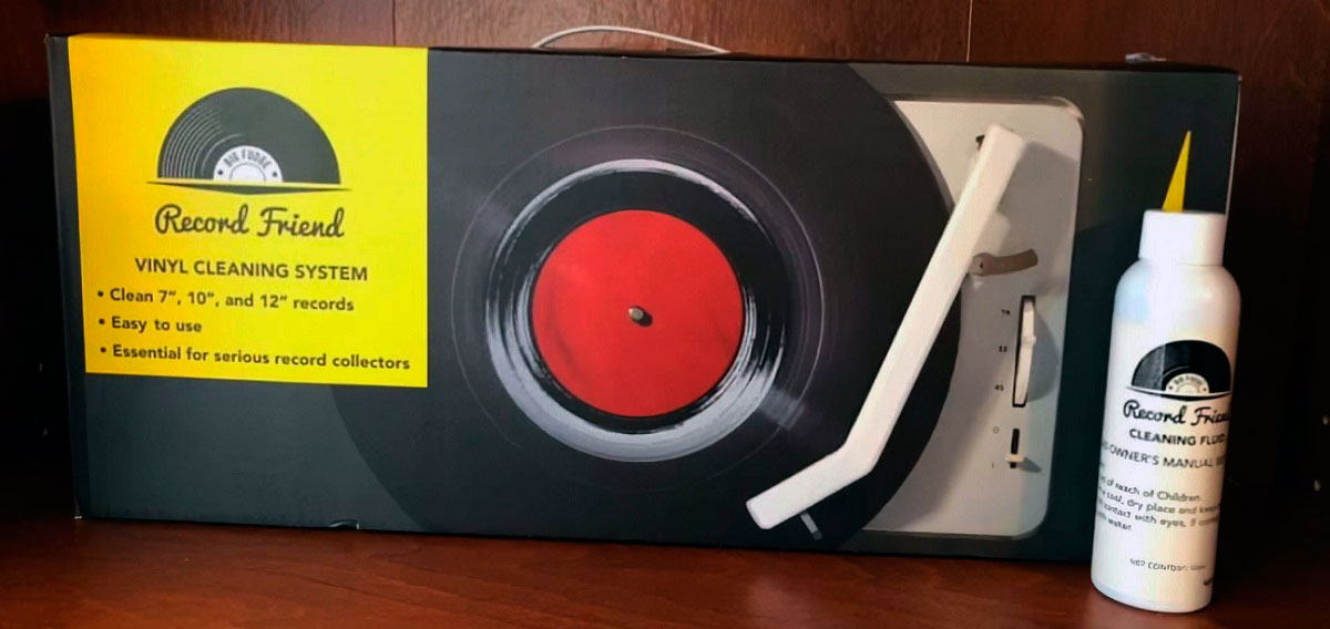 Record Friend vinyl cleaner in a box