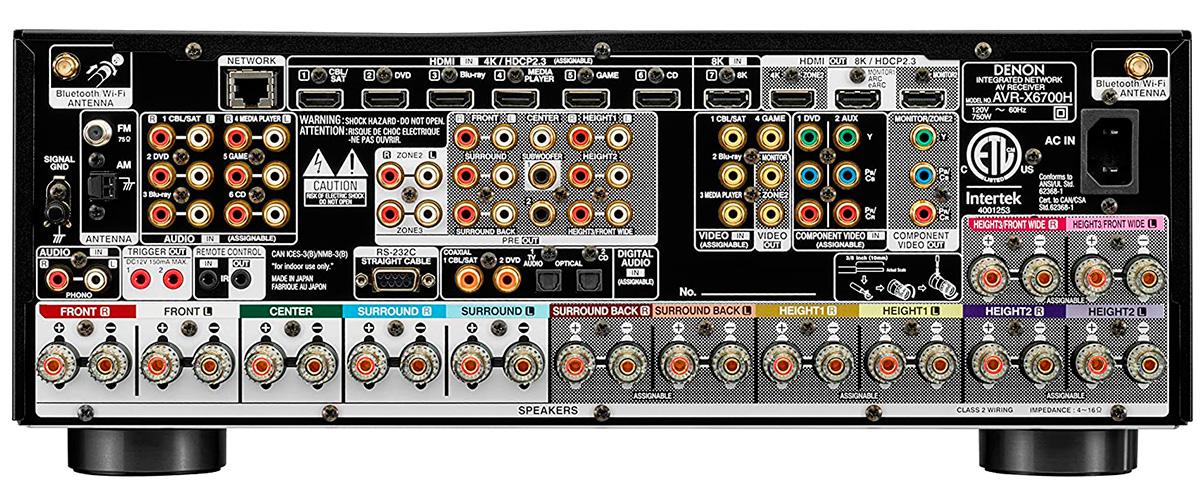 Denon AVR-X6700H inputs
