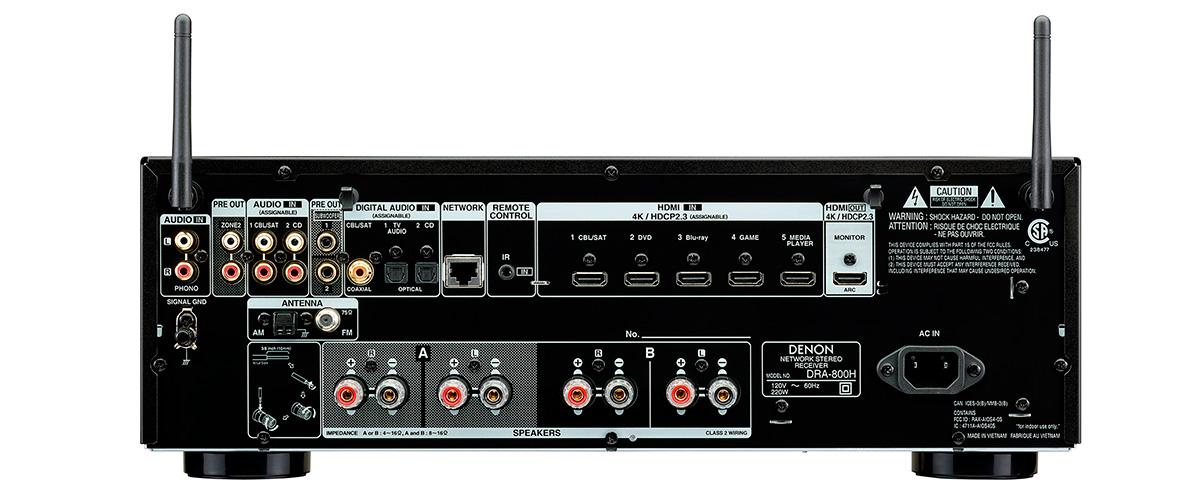 Denon DRA-800H connections