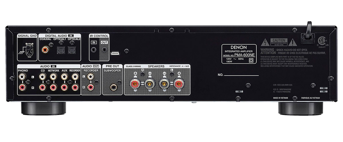 Denon PMA-600NE inputs
