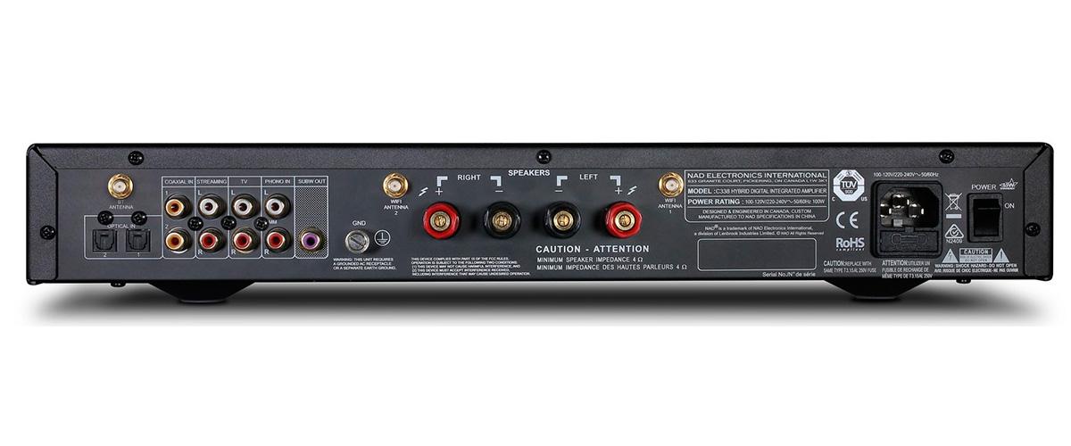 NAD C338 inputs