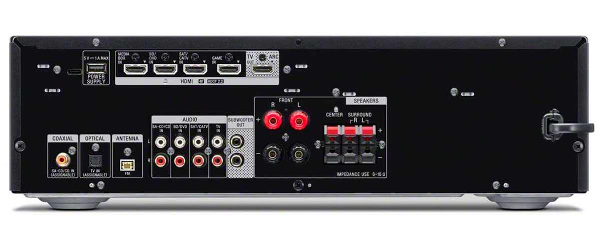 Sony STR-DH590 inputs and outputs