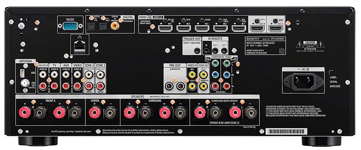 Sony STR-ZA1100ES inputs