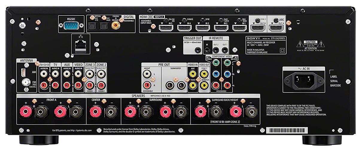 Sony STR-ZA2100ES inputs