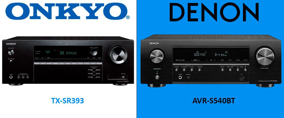 Onkyo TX-SR393 vs Denon AVR-S540BT comparison
