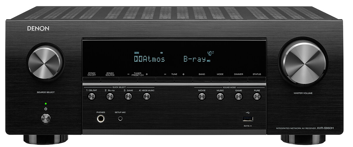 Denon AVR-S960H front view