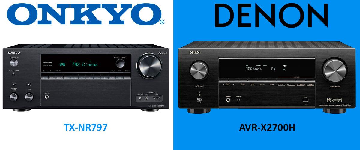 Denon AVR-X2700H vs Onkyo TX-NR797 comparison