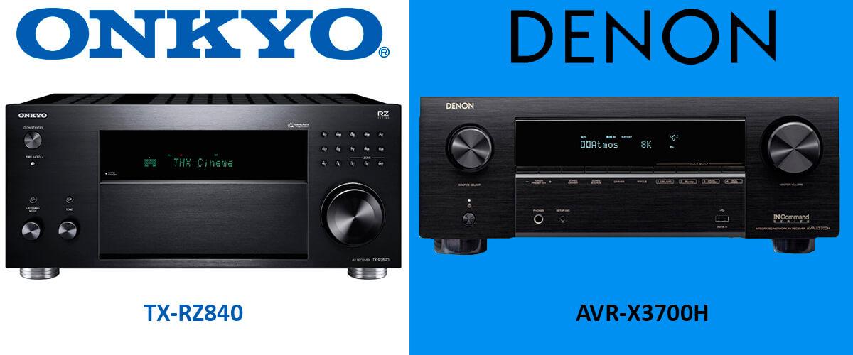 Denon AVR-X3700H vs Onkyo TX-RZ840 comparison