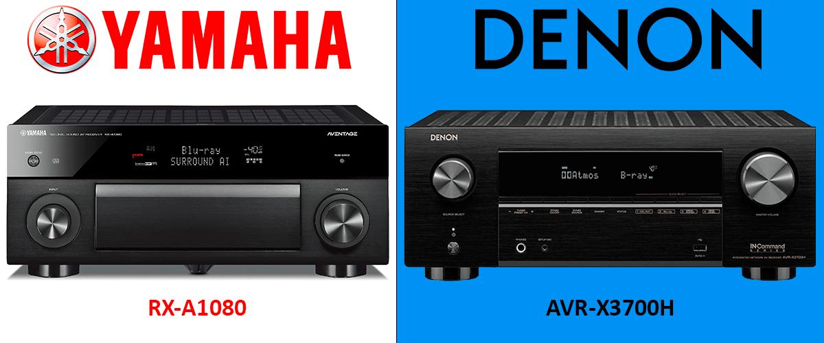Denon AVR-X3700H vs Yamaha RX-A1080 comparison