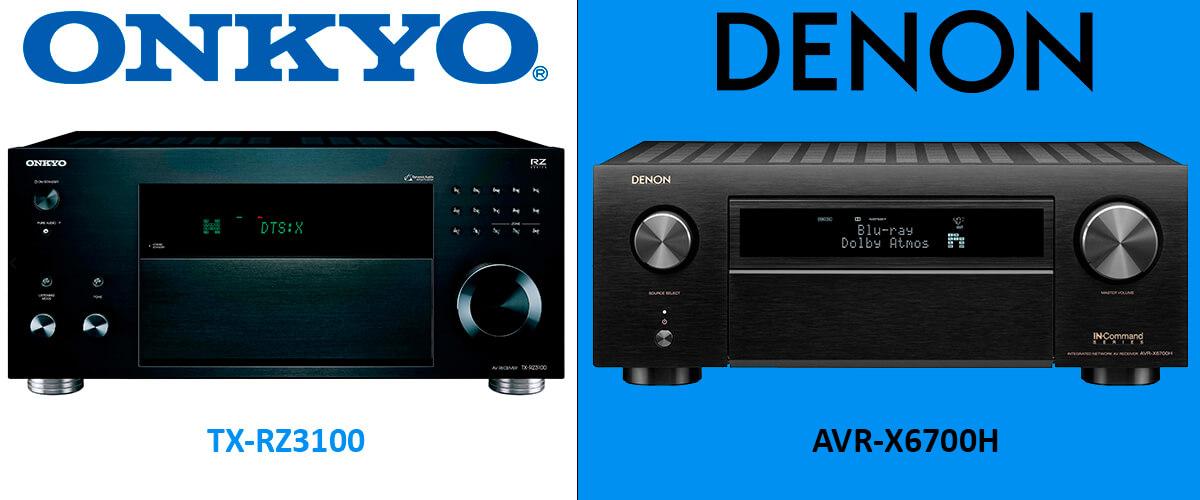 Onkyo TX-RZ3100 vs Denon AVR-X6700H comparison