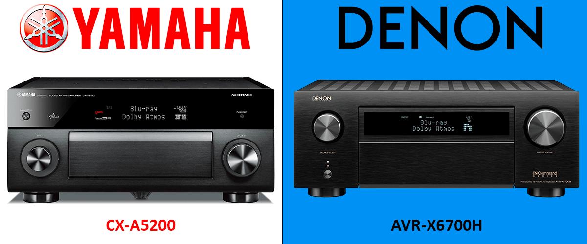Yamaha CX-A5200 vs Denon AVR-X6700H comparison