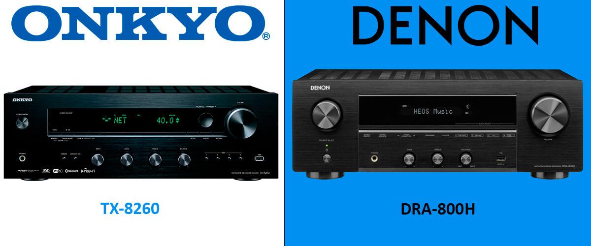 Denon DRA-800H vs Onkyo TX-8260 comparison
