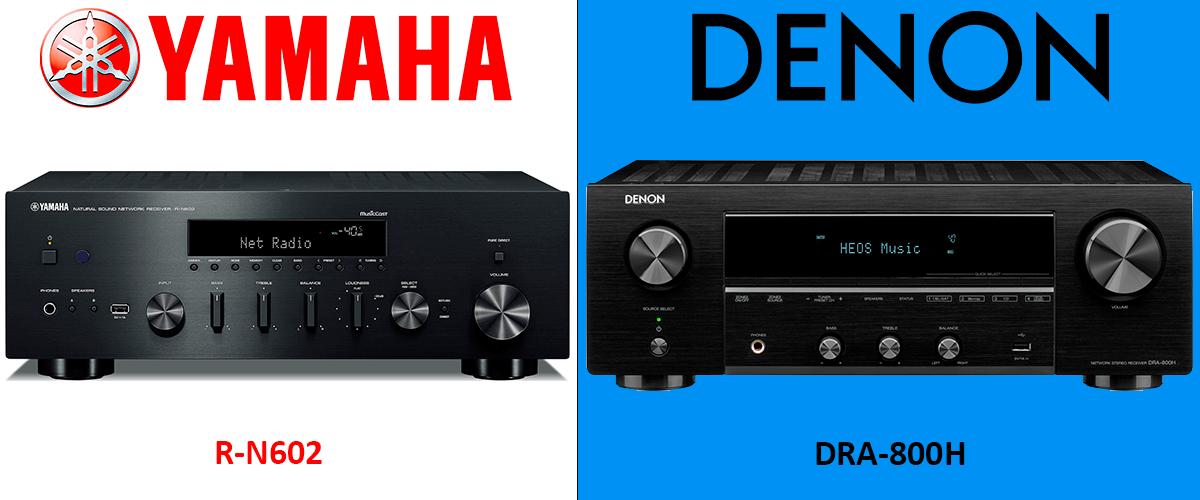 Denon DRA-800H vs Yamaha R-N602 comparison