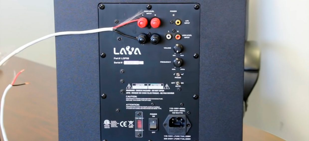 Connecting a powered sub with passive PA speakers