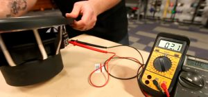test a subwoofer with a multimeter