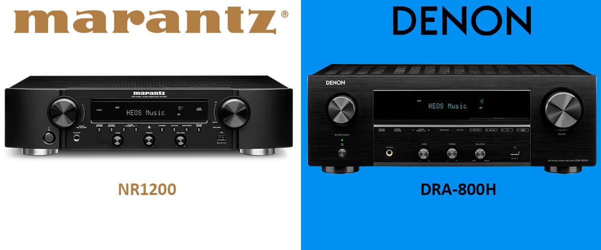 Marantz NR1200 vs Denon DRA-800H comparison