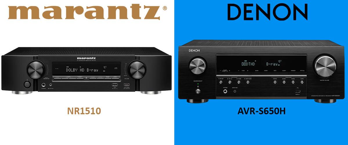 Denon AVR-S650H vs Marantz NR1510 comparison