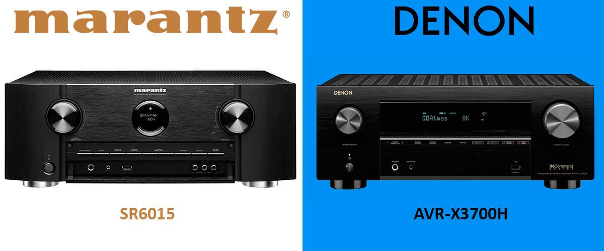 Marantz SR6015 vs Denon AVR-X3700H comparison