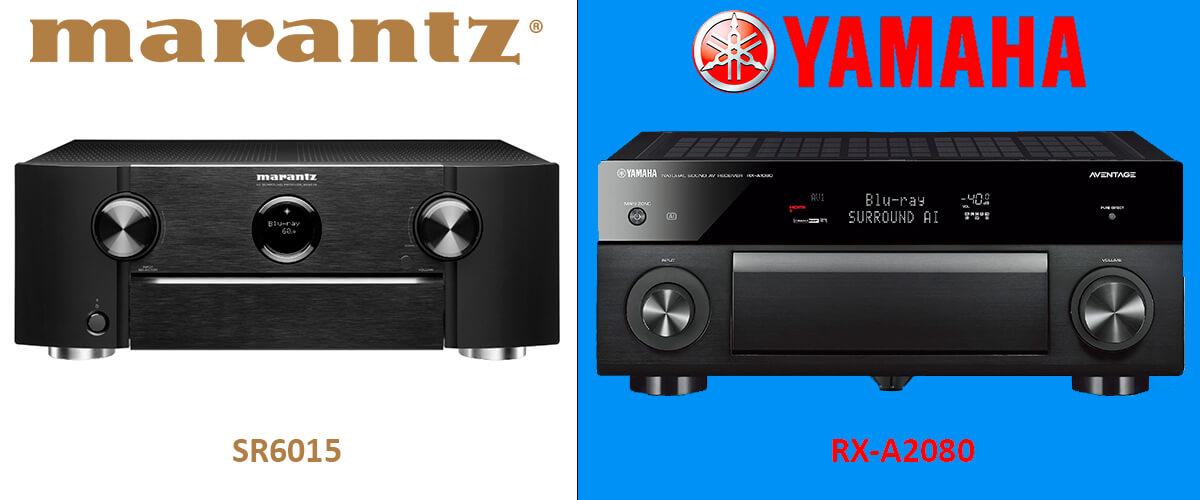 Marantz SR6015  vs Yamaha RX-A2080 comparison