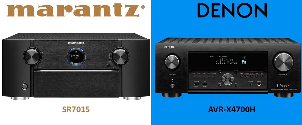 Denon AVR-X4700H vs Marantz SR7015 comparison