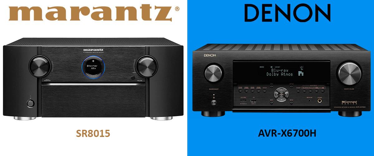 Marantz SR8015 vs Denon AVR-X6700H comparison