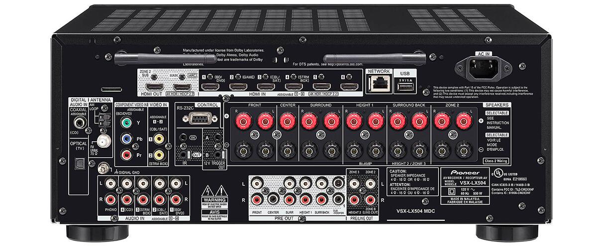 Pioneer Elite VSX-LX504 inputs